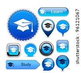 education web buttons for... | Shutterstock .eps vector #96121067