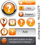 faq orange web buttons for... | Shutterstock .eps vector #96121079