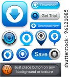 download web blue buttons for... | Shutterstock .eps vector #96121085