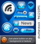 Rss Web Blue Buttons For...
