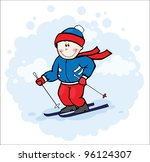 olimpic skier | Shutterstock .eps vector #96124307