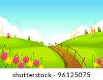 illustration of spring... | Shutterstock .eps vector #96125075