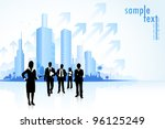illustration of business people ... | Shutterstock .eps vector #96125249