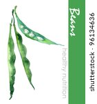 Hand Painted Green Beans