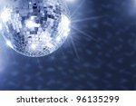 a mirror disco ball hanging...   Shutterstock . vector #96135299