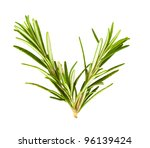twigs of rosemary isolated on a ... | Shutterstock . vector #96139424