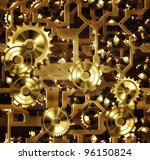 steampunk cogs and gears | Shutterstock . vector #96150824