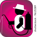 symbolic man spraying... | Shutterstock .eps vector #9615289