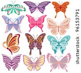 butterfly collection | Shutterstock .eps vector #96153791