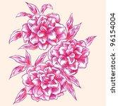 flowers  hand drawn  | Shutterstock .eps vector #96154004