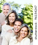 happy smiling family in the... | Shutterstock . vector #96154247