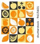 fruits | Shutterstock .eps vector #9615601