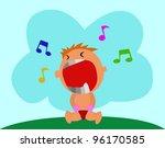 illustration   kid crying   a... | Shutterstock . vector #96170585