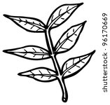 leaf illustration  raster...   Shutterstock . vector #96170669