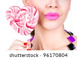 portrait of a glamourous... | Shutterstock . vector #96170804