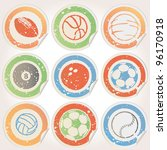 sticker grunge sport ball | Shutterstock .eps vector #96170918