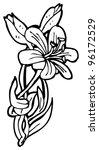 flower illustration | Shutterstock . vector #96172529