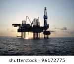silhouette of offshore jack up... | Shutterstock . vector #96172775