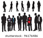 silhouettes of people | Shutterstock .eps vector #96176486