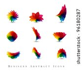 business abstract icons set | Shutterstock .eps vector #96180287
