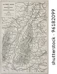 black forest old map and rhine... | Shutterstock . vector #96182099