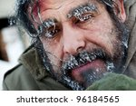 Close Up Of Homeless Male Face...