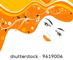 Vector illustration of beautiful girl - stock vector