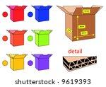 box   Shutterstock .eps vector #9619393