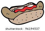 hotdog cartoon | Shutterstock . vector #96194537