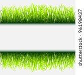 green grass frame | Shutterstock . vector #96198437