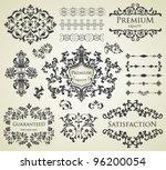 vector set  calligraphic design ... | Shutterstock .eps vector #96200054