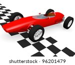 old fashioned race car in the... | Shutterstock . vector #96201479