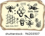 bee collection | Shutterstock .eps vector #96203507