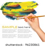 abstract watercolor background...   Shutterstock .eps vector #96230861