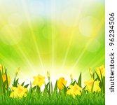 flowers easter background ... | Shutterstock .eps vector #96234506