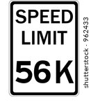 speed limit   conceptual speed... | Shutterstock .eps vector #962433