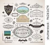 vector set   calligraphic... | Shutterstock .eps vector #96261674
