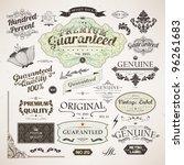 calligraphic design elements ... | Shutterstock .eps vector #96261683