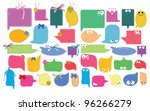set of color funny labels over... | Shutterstock . vector #96266279