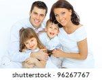 portrait of happy family... | Shutterstock . vector #96267767