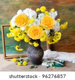Still Life With Huge Bunch Of...