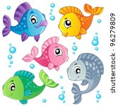 various cute fishes collection... | Shutterstock .eps vector #96279809