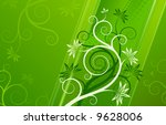 branch and flower | Shutterstock .eps vector #9628006
