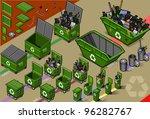 garbage bin collector truck... | Shutterstock . vector #96282767