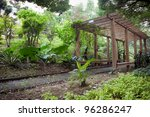 Wooden Pergola With Footpath...