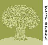 green olive tree vector...   Shutterstock .eps vector #96291935