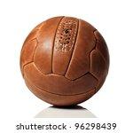 Vintage Soccer Ball On White...