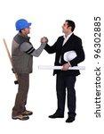 collaborators handshaking   Shutterstock . vector #96302885
