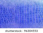 Blue Crocodile Skin Texture As...