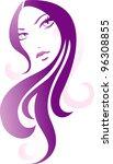 girl icon | Shutterstock .eps vector #96308855